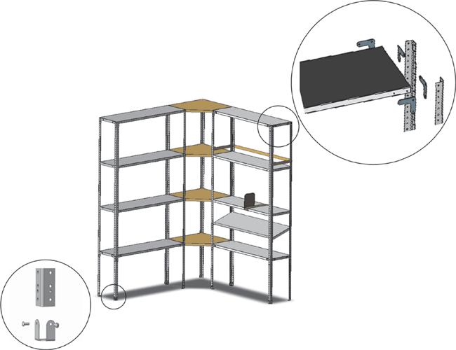 Медстальконструкция Комплект соединительных элементов МСК-809.020