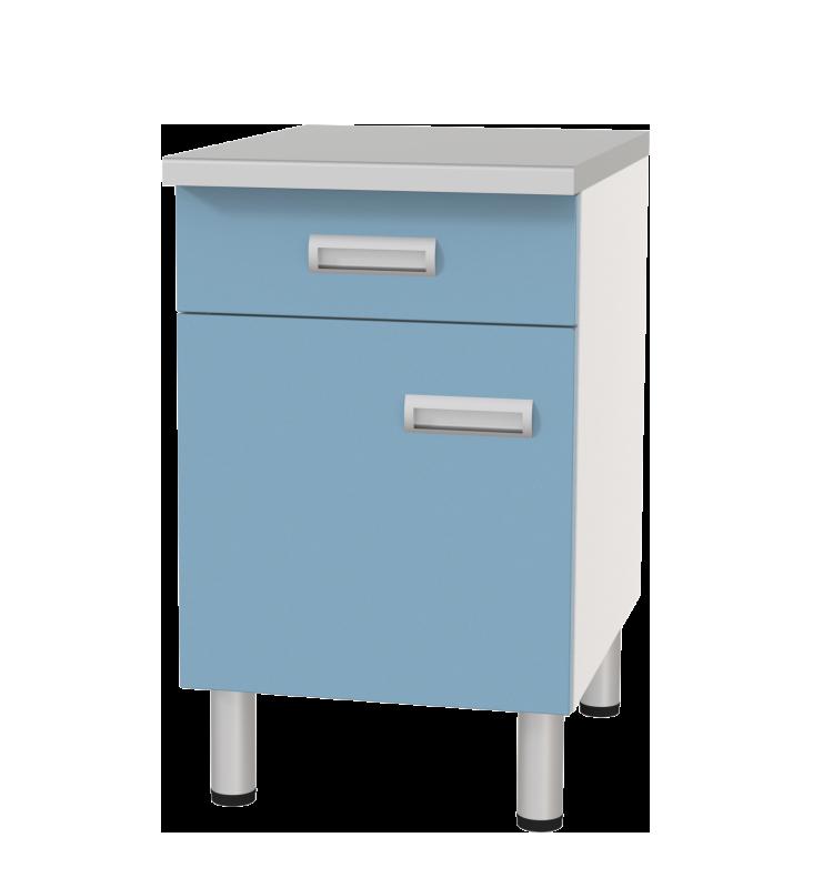 Медстальконструкция Стол лабораторный однотумбовый с ящиком и дверкой СЛ-01-«МСК» (код СЛ-01-102)