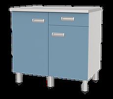 Медстальконструкция Стол лабораторный двухтумбовый с дверками, ящиком и полкой СЛ-03-«МСК» (код СЛ-03-205)