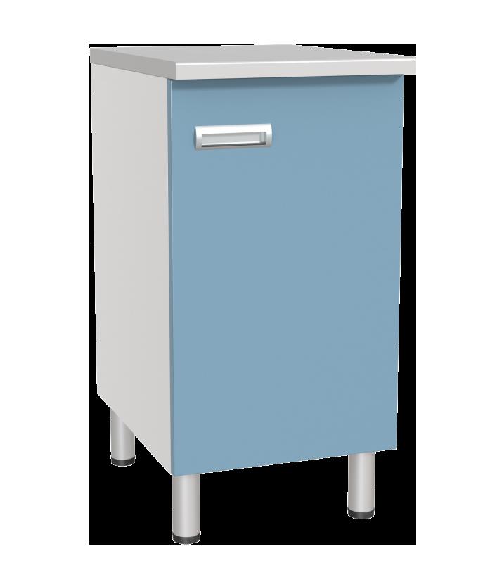 Медстальконструкция Стол лабораторный однотумбовый с дверкой и полкой СЛ-01-«МСК» (код СЛ-01-205)