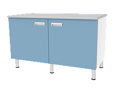 Медстальконструкция Стол лабораторный двухтумбовый с дверками и полками СЛ-04-«МСК» (код СЛ-04-213)