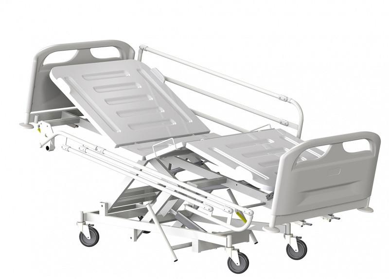 Медстальконструкция Кровать медицинская функциональная трёхсекционная КМФТ145-МСК (код МСК-3145)