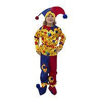 Карнавальный костюм «Петрушка», текстиль, р. 30, рост 116 см