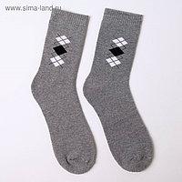 Носки мужские махровые, цвет серый, размер 25-27