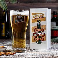 """Бокал для пива """"Настоящий мужик"""", 580 мл"""
