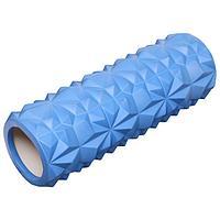 Роллер массажный для йоги 33 х10 см, цвет синий