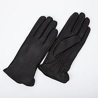 Перчатки женские, размер 9, с подкладом флис, цвет чёрный