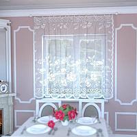 Штора на шторной ленте, цвет белый, 175х165 см