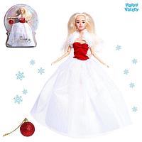 Кукла-модель шарнирная 'Снежная принцесса', с аксессуаром, красно-белое платье