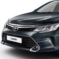 Мухобойка (дефлектор капота) Toyota Camry/Тойта Камри 55 2014-, фото 1