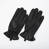 Перчатки мужские, размер 11, подклад флис, цвет чёрный