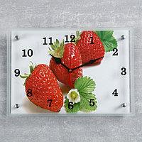 Часы настенные, серия Кухня, 'Клубника', 25х35 см, микс