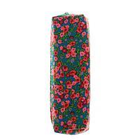 Пенал школьный мягкий 'Весна', цвет синий с розовыми цветами
