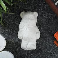 Фигурка под роспись 'Мишка с бантиком' 8х5х2см