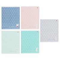 Тетрадь 48 листов в клетку 'Зефирные зайчата', обложка мелованный картон, ламинация Soft Touch, МИКС (комплект