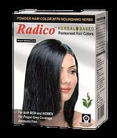 Краска для волос на основе натуральных трав, 10 гр, Черный, Radico