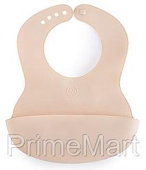 Нагрудник Happy Baby пластиковый мягкий Baby Plastic Bib 16000 Natural