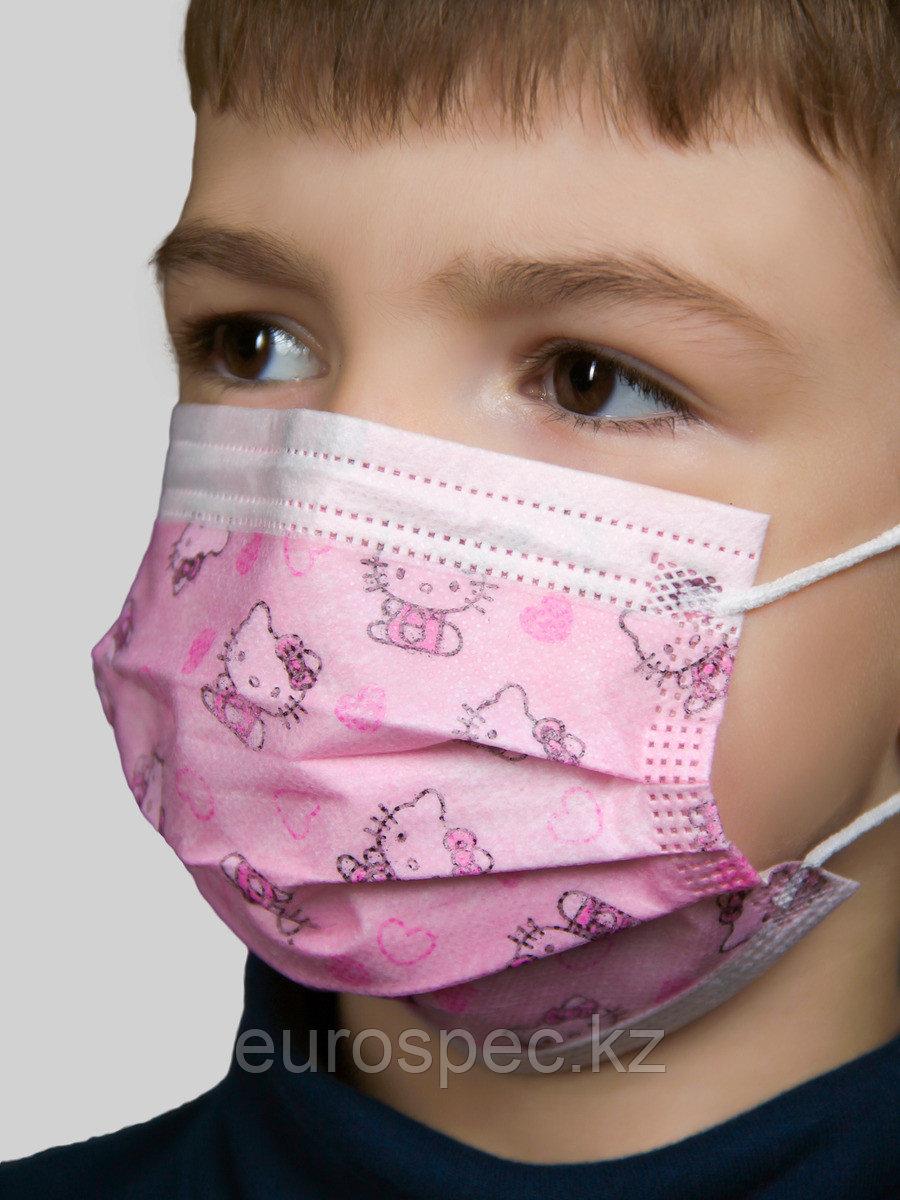 Трехслойные детские маски от 18тенге