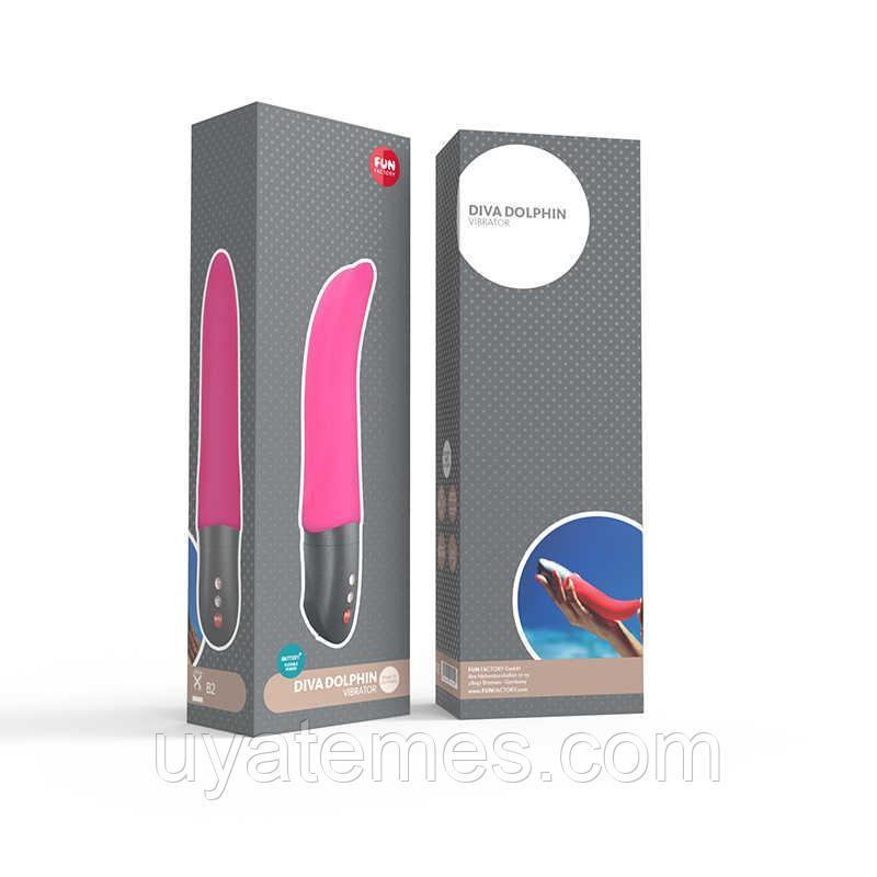 Вибратор Fun Factory Diva Dolphin, цвет розовый, 19,4 см