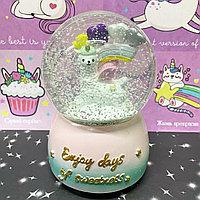 Сувенир снежный водяной шар музыка ,крутится 15х10х10 см, виды