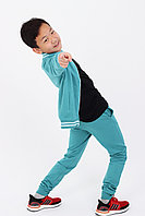 Подростковый, детский спортивный костюм. Цвет: Бирюза
