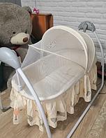 PITUSO электрокачели-колыбель Camellia Beige Zoo/ Зоопарк бежевый