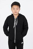 Подростковая, детская спортивная толстовка. Цвет: Черный