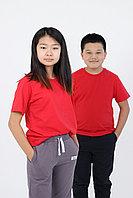 Детская футболка из хлопка. Цвет: Красный