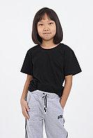 Детская футболка из хлопка. Цвет: Черный