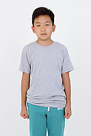 Детская футболка из хлопка. Цвет: Серый меланж