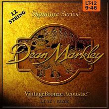 Dean Markley 2202 LT-12 набор струн для 12-струнной акустической гитары, размер 9-46