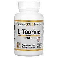 California Gold Nutrition, L-таурин, AjiPure, 1000 мг, 60 растительных капсул