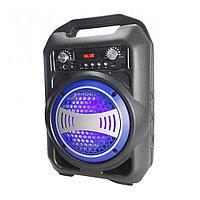 Беспроводная портативная колонка Speaker BS-12 (Bluetooth, USB, SD, FM, AUX) караоке - чемодан