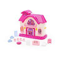 """Кукольный домик """"Сказка"""" с набором мебели (12 элементов) (в пакете) (78261)"""