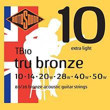 Струны для акустической гитары ROTOSOUND TB10 STRINGS 80/20 BRONZE
