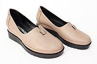 Туфли женские на танкетке, натуральная кожа.