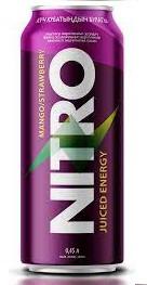 Энергетический напиток NITRO манго-клубника 450 мл (8 шт в упаковке)