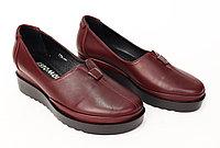 Туфли женские. Натуральная кожа, цвет бордовый.