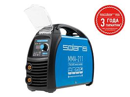 Инвертор сварочный SOLARIS MMA-211 (230В; 20-210 А; 70В; электроды диам. 1.6-4.0 мм; вес 3.9 кг)