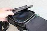 Мужская кожаная сумка барсетка через плечо, фото 5