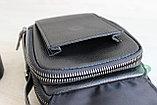 Мужская кожаная сумка барсетка через плечо, фото 8