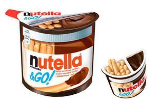 Шоколадная паста Nutella с хлебными палочками 52 гр