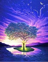 """Картины стразами на подрамнике """"Магическое дерево в ночи"""" 50*65 СТРАЗЫ КРУГЛЫЕ"""