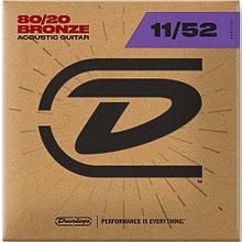 Комплект струн для акустической гитары, бронза 80/20, Medium Light, 11-52, Dunlop DAB1152