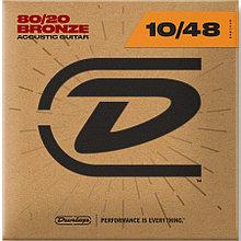 Комплект струн для акустической гитары, бронза 80/20, Extra Light, 10-48, Dunlop DAB1048