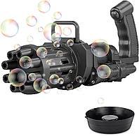 Автоматическая игрушка-пулемет генератор для создания мыльных пузырей