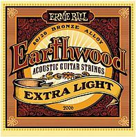 Струны для акустических гитар Ernie Ball Earthwood 80/20Extra Light(10-50) 2006