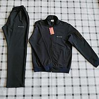 Мужской спортивный костюм Columbia., цвета черный, темно-синий