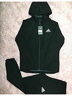 Мужской спортивный костюм ADIDAS с капюшоном , цвет черный