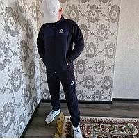 Мужской утепленный спортивный костюм Reebok на флисе , цвет темно-серый